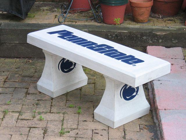 Odlitek betonové lavice
