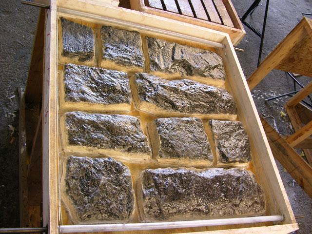 Odlévání kamenů z betonu