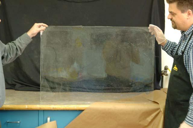 Výroba rozbitné okenní tabule